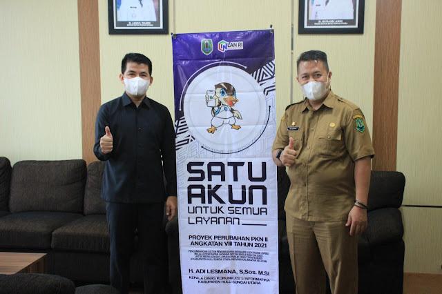 Ketua DPRD Kab.HSU Almien Ashar Dukung Penuh Diskominfo Wujudkan SBBE