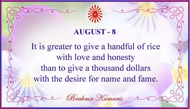 Thought For The Day August 8