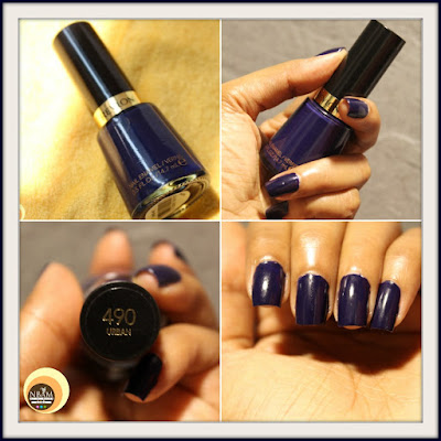 Review, swatches and photos of Revlon 490 Urban Nail Enamel