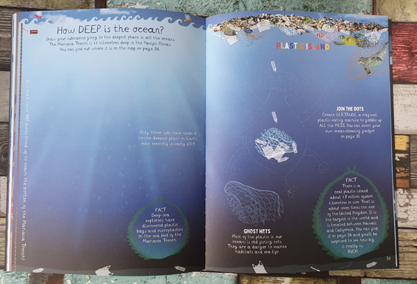 The beautiful illustrations from The Magical Underwater Activity Book