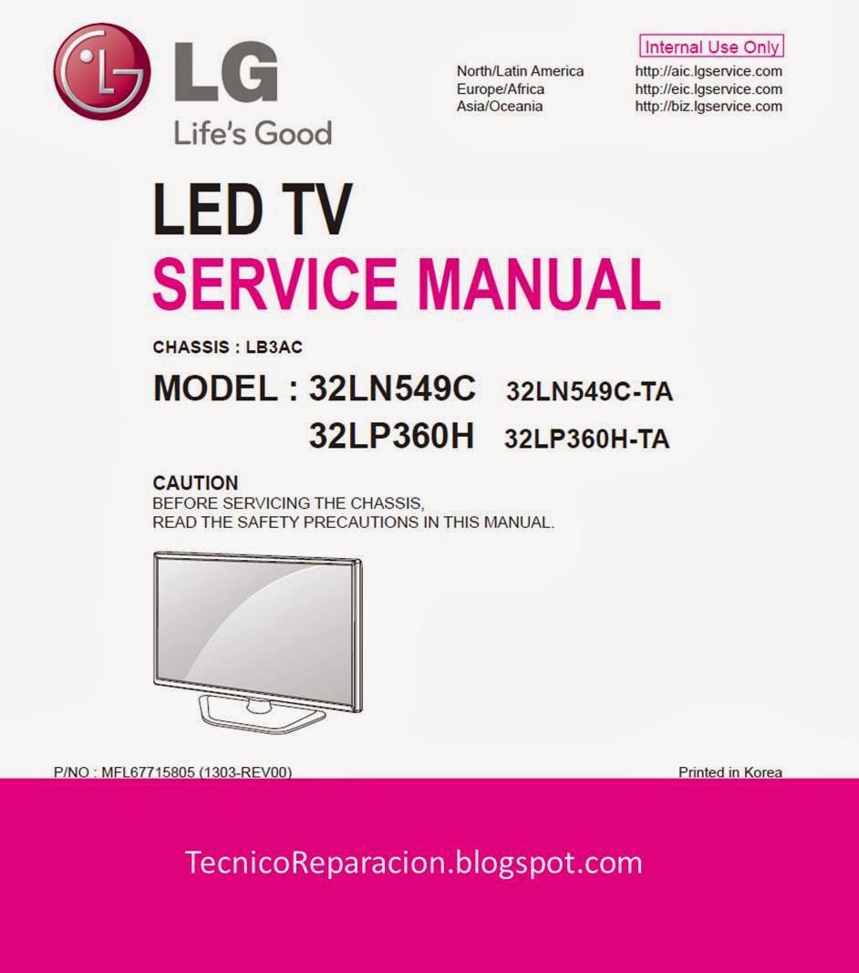 32ln549c 32lp360h Lb3ac Diagrama Tv Led Lg