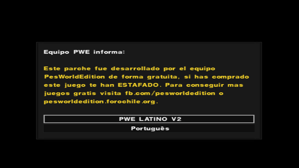 PES 2017 Word Edition LATINO V2 (PS2) Março 2017