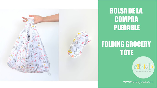 bolsa de tela plegable folding grocery bag