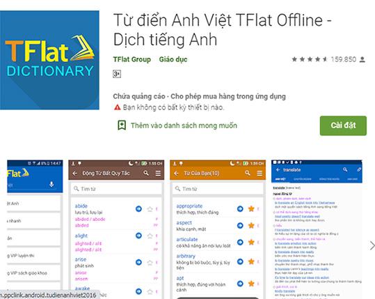 TFlat - Tải từ điển Anh Việt TFlat, dịch tiếng Anh cho máy tính, PC c