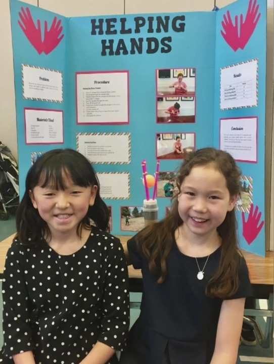 She could only speak Mandarin and write Chinese characters then, but has since picked up English with the help of her older, 10-year-old sister, Veronica.