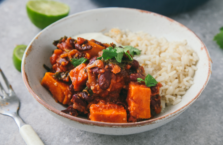 SWEET POTATO & KALE CHILI #diet #potato #healthyrecipes #food #easy