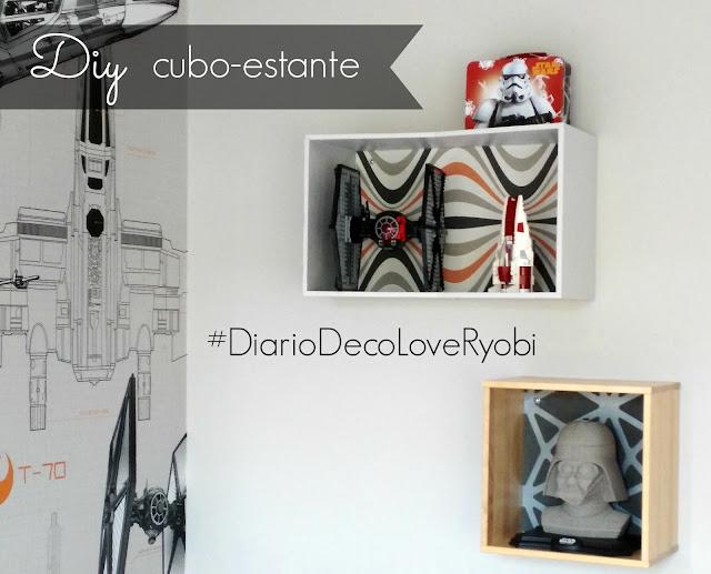 #DiarioDecoLoveRyobi:  UN CUBO-ESTANTE DIY CON UNA SOLA HERRAMIENTA