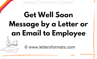 Sample Get Well Soon Message to Employee