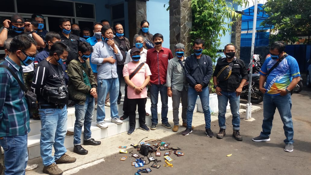 PWI Cianjur Kecam Intimidasi Oknum Aparat Di Sukabumi Saat Meliput Demo