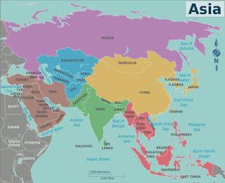 Benua Asia, Letak Batas-Batas dan Keadaan Alam