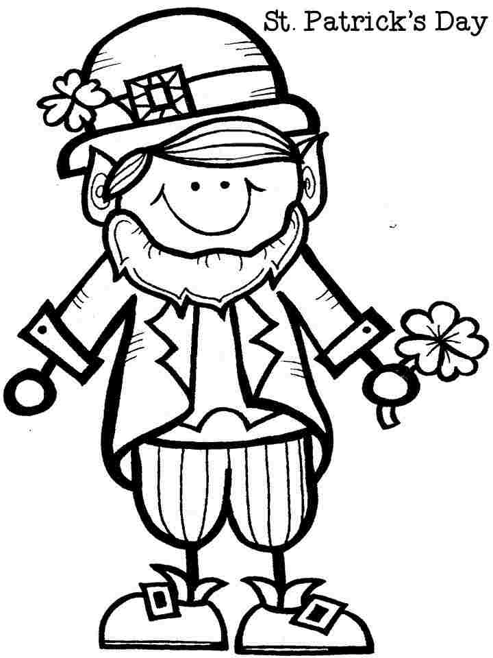 leprachaun coloring pages - photo#29