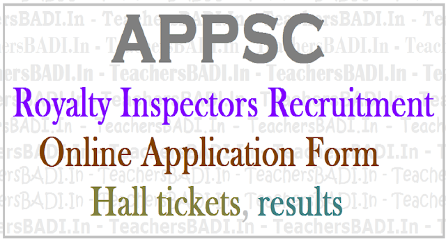 APPSC Royalty Inspectors, Recruitment, Apply online