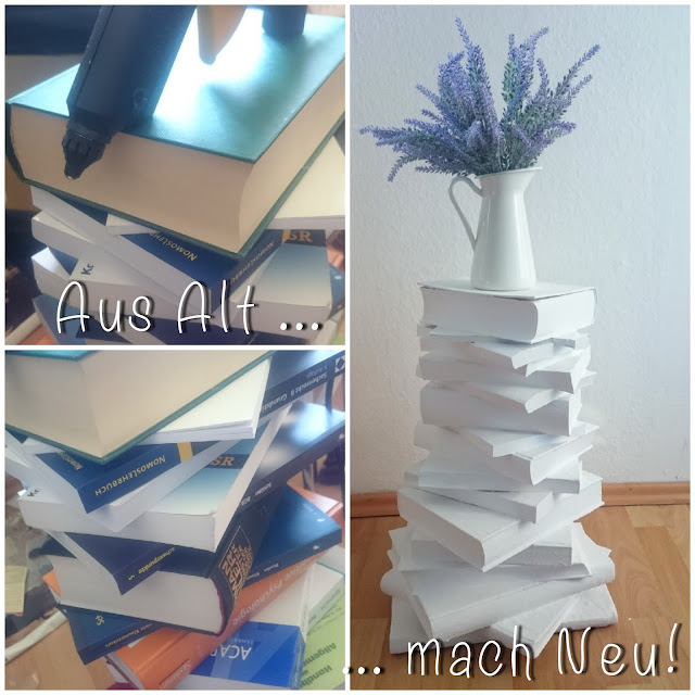 [DIY] Aus Alt Mach Neu  Upcycling Bücherturm, Büchertisch Book Crafting