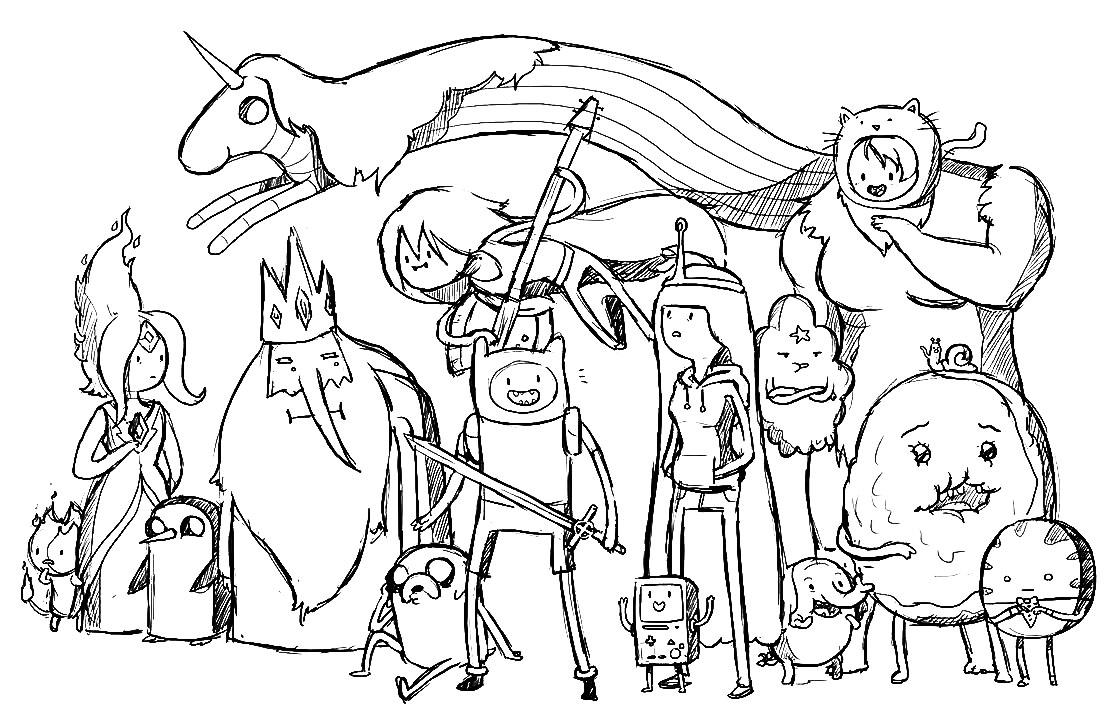 Ausmalbilder Malvorlagen: Adventure time Abenteuer Zeit