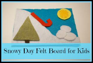snow day felt board