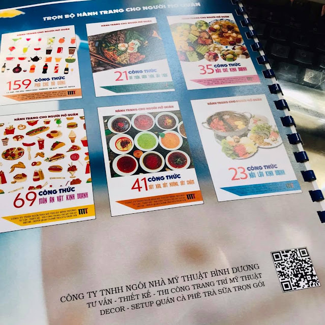 Tổng hợp các công thức pha chế, nấu ăn dành cho người kinh doanh