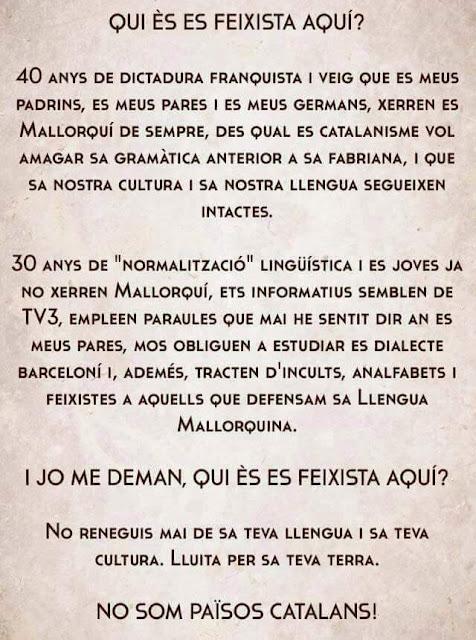 Quí es feixista aquí ?, Mallorca, Balears, Baleares, mallorquí