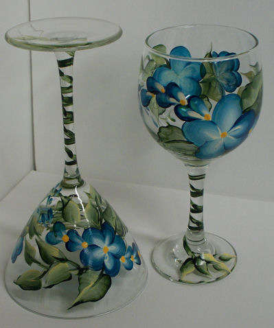 glass paintings of peacock outlines