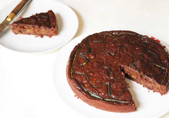 Gâteau fondant chocolat courgette