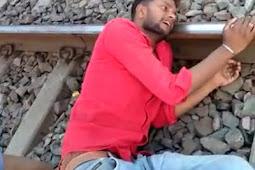 पत्नी के मायके जाने से नाराज युवक ने ट्रेन लाइन पर काटा हंगामा दो ट्रेन बाधित, मुकदमा दर्ज