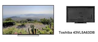 Toshiba 43VL5A63DB TV specs
