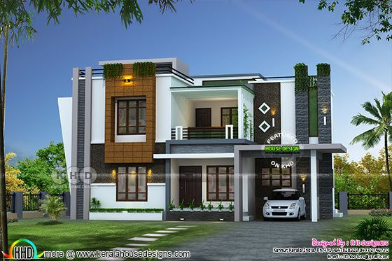 2352 sq-ft awesome contemporary Kerala home design