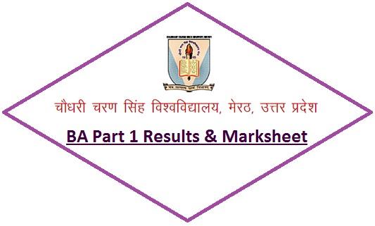 CCS University BA Part 1 Results 2020