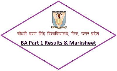 CCS University BA Part 1 Results 2021