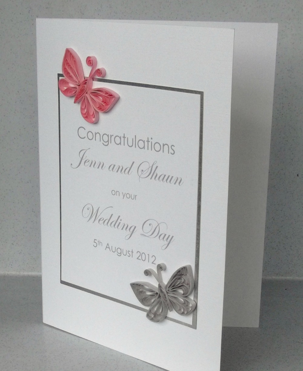 paper daisy cards quilled butterfly wedding invitation