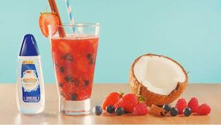Receita de bebida de frutas vermelhas e canela com união sucralose