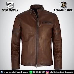 Jual Jaket Kulit Asli Garut Pria Domba Original Brida Leather B26   WA 08813430588