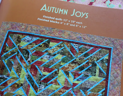 Autumn Joys quilt pattern from Accent on Angles book