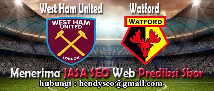 prediksi skor west ham united vs watford