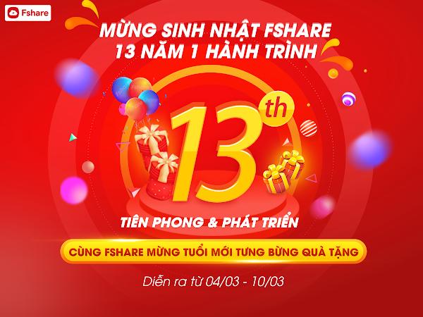 Tham gia chương trình sinh nhật Fshare, chia sẻ điều hay rinh ngay quà tặng