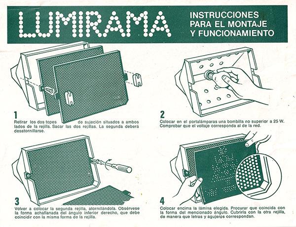 Lumirama Madel instrucciones 1