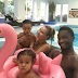 Photo: Mikel Obi enjoys family time in the pool