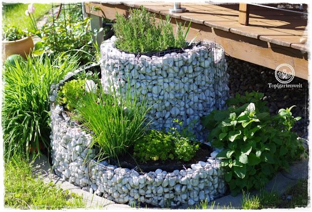 Gartenblog Topfgartenwelt Mein Frühlingsgarten: Kräuterschnecke
