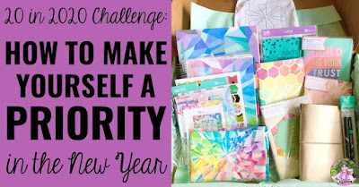 """Photo of planner supplies with text, """"How to Make Yourself a Priority in the New Year."""""""