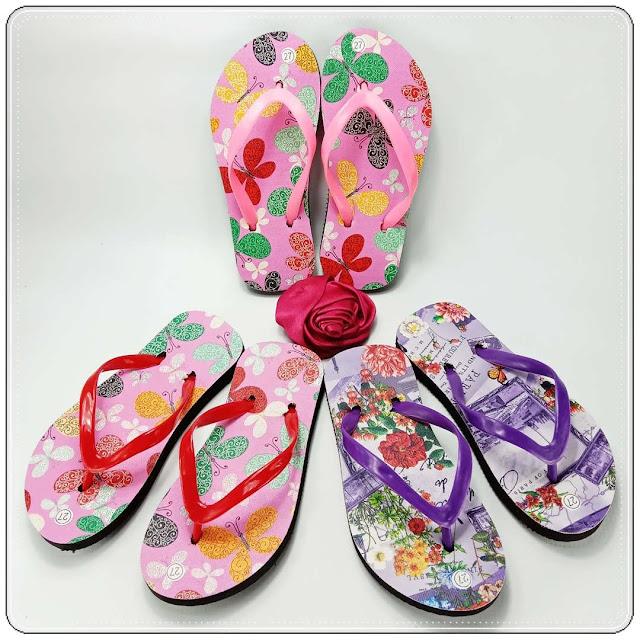 Sandal Motif-Bunga Anak || Grosir Sandal Jepit Murah Garut
