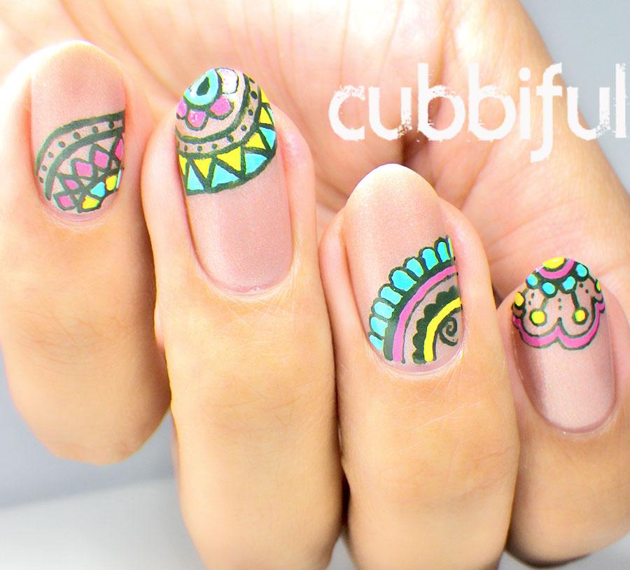 cubbiful: Mandala Nail Art with CF Beauty Cosmetics ...