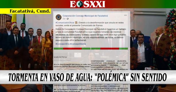 Concejo connota de manera oficial molestia por información verídica difundida por EOSXXI