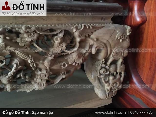 Sập mai rập - Những loại sập gỗ phòng khách