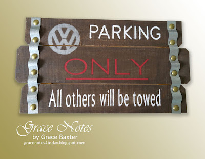 VW Parking Sign, by Grace Baxter. Gracenotes for Today