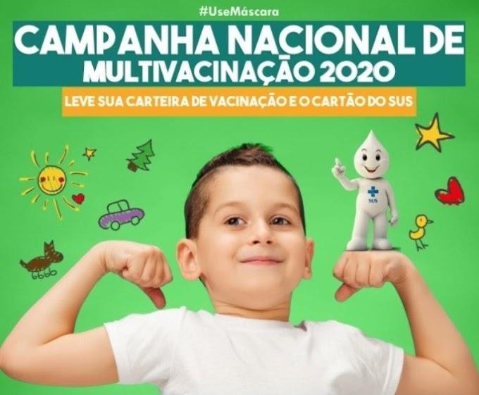 Menores de 15 anos participaram da campanha de multivacinação em Rosário Oeste