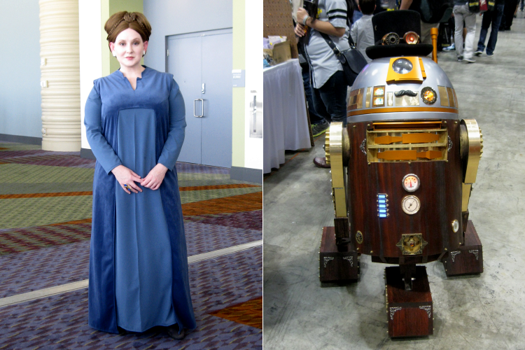 MegaCon Cosplay Star Wars Leia  R2D2