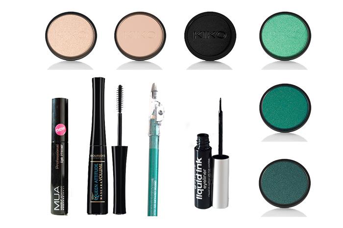Productos utilizados | Maquillaje en tono verde. | Inspirado en Jasmine.
