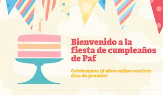 Bienvenido a la fiesta de cumpleaños de Paf 3-5 diciembre