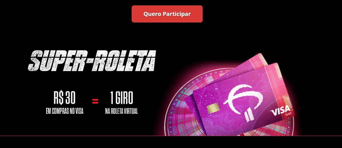 Super Roleta Visa Bradesco Promoção