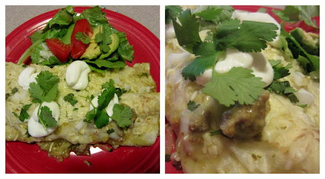 Turkey and Zucchini Enchiladas with Tomatillo Verde Sauce  Healthy and delicious Mexican fare!  Ole!