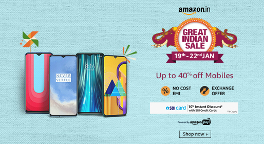 Amazon Great Indian Sale on Mobile phones and smartphones